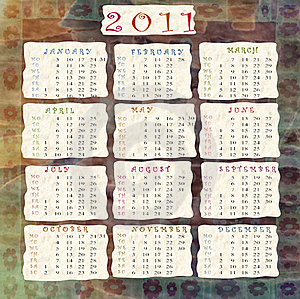 Calendar 2011 Royalty Free Stock Images - Image: 16836429