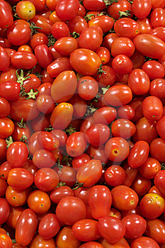 Small Red Tomatoes In Stack Stock Photos - Image: 16836513