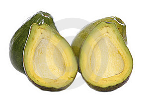 Two And Halves Avocados Stock Photo - Image: 16836870