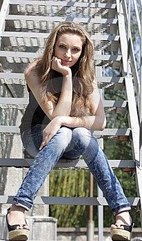 Pretty Lovely Brunette Girl Royalty Free Stock Photos - Image: 16837098