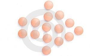 Orange Pills Arrow Close-up Stock Photos - Image: 16837183
