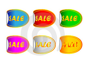 Colored Stickers Royalty Free Stock Photos - Image: 16837998
