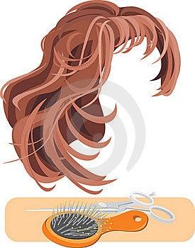 图库摄影: 查出的头发发刷剪白色图片