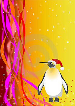 Santa Penguin. Vector File Royalty Free Stock Images - Image: 16841229