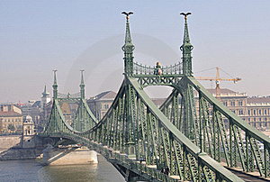 Freedom Bridge In Budapest Stock Photos - Image: 16842153