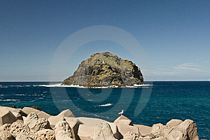 Rock In The Ocean Stock Images - Image: 16844644