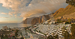 Panorama Of Los Gigantes Stock Images - Image: 16844684