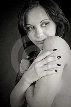 Portrait Of A Girl Tenderness Royalty Free Stock Photography - Image: 16846227