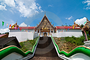 Stair Up To Church At Wat Kaolam Temple Stock Photo - Image: 16847440