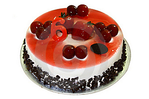 Birthday Cake With Strawberry Topping Royalty Free Stock Images - Image: 16847899