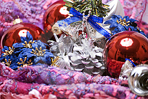Christmas And New Year Decorations Stock Photo - Image: 16849850