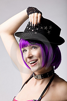 Beauty Disco Girl In Hat Stock Photography - Image: 16850532
