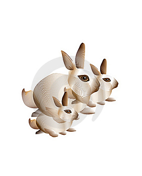 Abstract Bunny Rabbits Royalty Free Stock Images - Image: 16850809