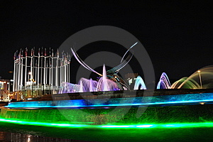 Kiev Station And Fountain Rape Of Europe Royalty Free Stock Photos - Image: 16857408