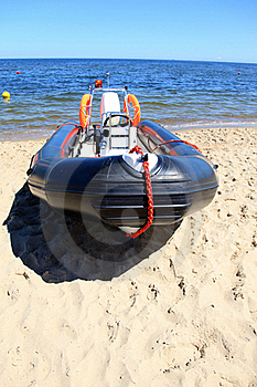 Boat For Lifeguard Stock Image - Image: 16859411