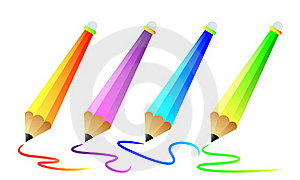 Set Of Color Pencils Stock Photography - Image: 16859492