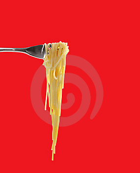 Spaghetti With Fork Royalty Free Stock Photos - Image: 16860148