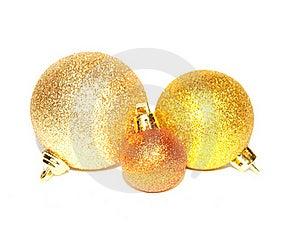Gold Christmas Balls Stock Photography - Image: 16860632