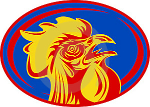 French Mascot Rooster Cockerel Royalty Free Stock Images - Image: 16860899