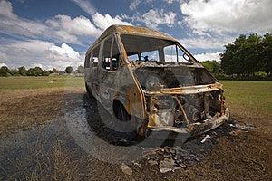 Stolen Van Royalty Free Stock Images - Image: 16860909