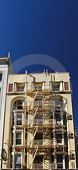 Building With External Fire Escape Staircase Stock Image - Image: 16861201