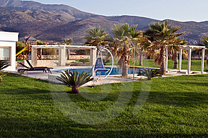 Swimming Pool At The Luxury Villa, Crete, Greece . Royalty Free Stock Photography - Image: 16861467