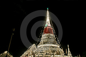 Decorated Stupa In Thailand Royalty Free Stock Photography - Image: 16862727