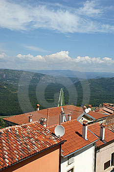View Of The House With Red Roofs And The Valley Royalty Free Stock Images - Image: 16863009