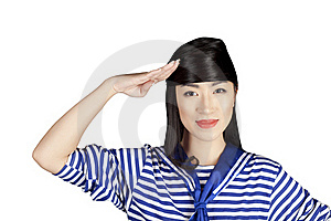 Chinese Girl Sailor Royalty Free Stock Images - Image: 16863619
