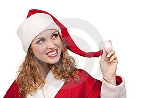 Coquette Santa Stock Images - Image: 16869834
