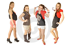 Girls Are Happy In The School Stock Photos - Image: 16879603