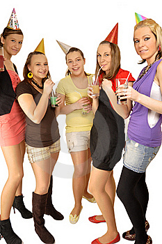 Girls Are Happy In The School Stock Photos - Image: 16879613