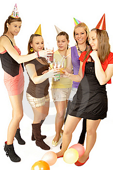 Girls Are Happy In The School Royalty Free Stock Photo - Image: 16879645