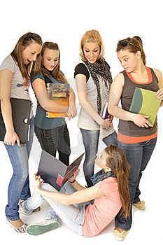 Girls Are Happy In The School Stock Photography - Image: 16879742
