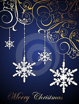Christmas Floral Background With Snowflakes Stock Photos - Image: 16879763