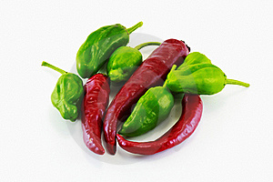 Red And Green Peppers Stock Images - Image: 16879854