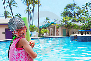 Little Girl And Pool Royalty Free Stock Photos - Image: 16882298