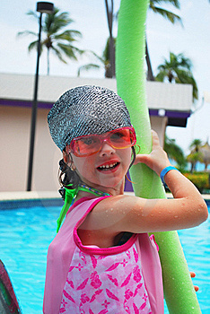 Little Girl And Pool Royalty Free Stock Photos - Image: 16882318