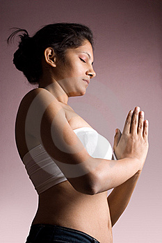 Beautiful Indian Girl Doing Yoga In Bra Royalty Free Stock Images - Image: 16882339