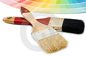 Color Guide For Selection And Paintbrush Royalty Free Stock Photo - Image: 16886125