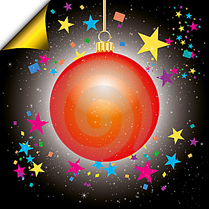 Christmas Background With Bauble Stock Image - Image: 16889061