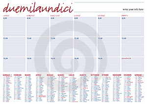 Planning 2011 Italian Language Stock Photos - Image: 16889163