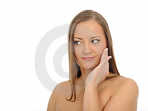 Beautiful Spa Woman Face With Long Healthy Hair Royalty Free Stock Photography - Image: 16890757