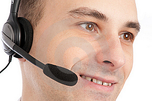 A Friendly Telephone Operator Royalty Free Stock Images - Image: 16890899