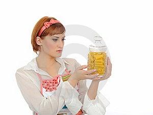 Beautiful Cooking Woman With Italian Pasta Stock Photo - Image: 16890910