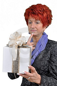 Woman With Gift Box Royalty Free Stock Photos - Image: 16891428
