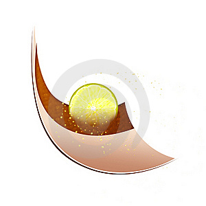 Tea With A Lemon, Abstraction Royalty Free Stock Photography - Image: 16891847
