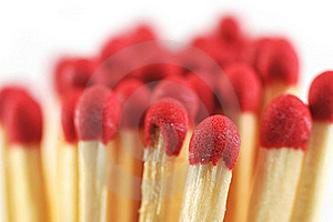 Heap Of Matches Stock Image - Image: 16893991