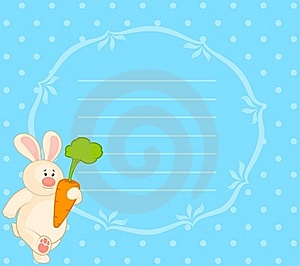 Bunny With Carrot Stock Photo - Image: 16895580