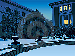 Winter Evening In The City Stock Image - Image: 16895631
